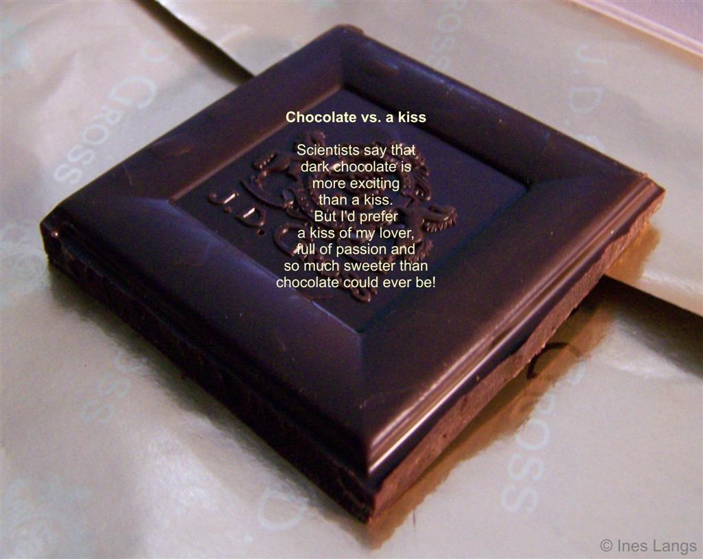 Chocolate vs. A Kiss